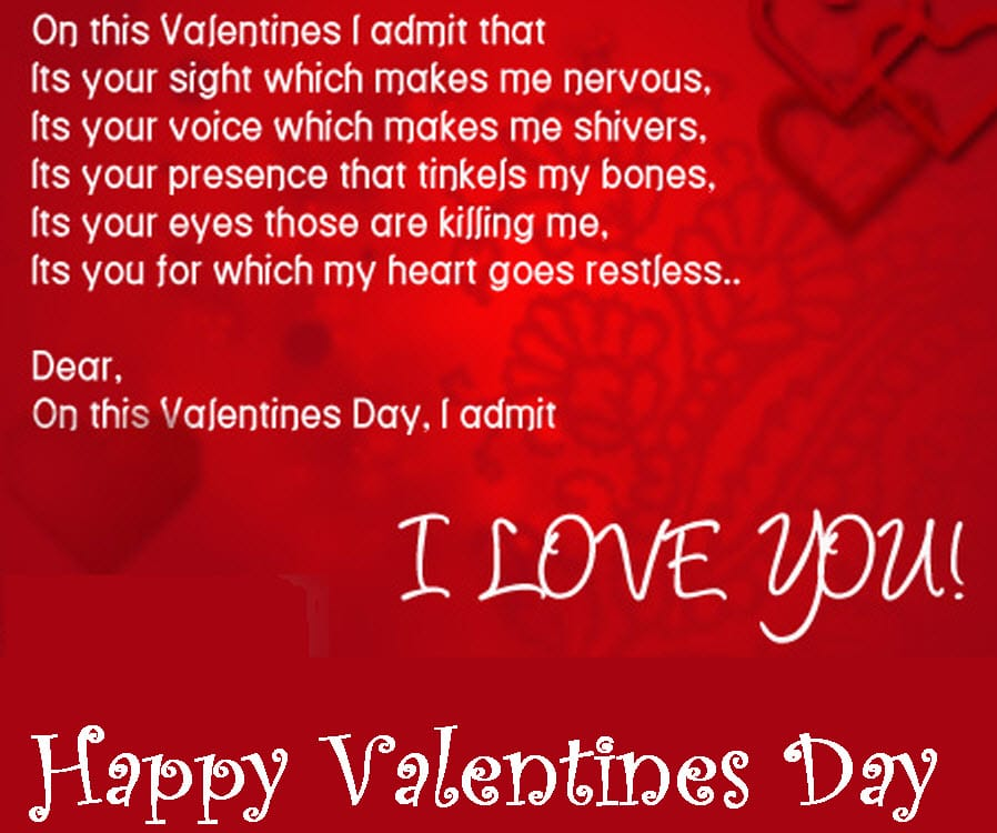 Valentine's Day Messages and cards for her