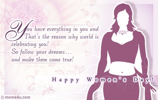 Greeting cards for Women's Day