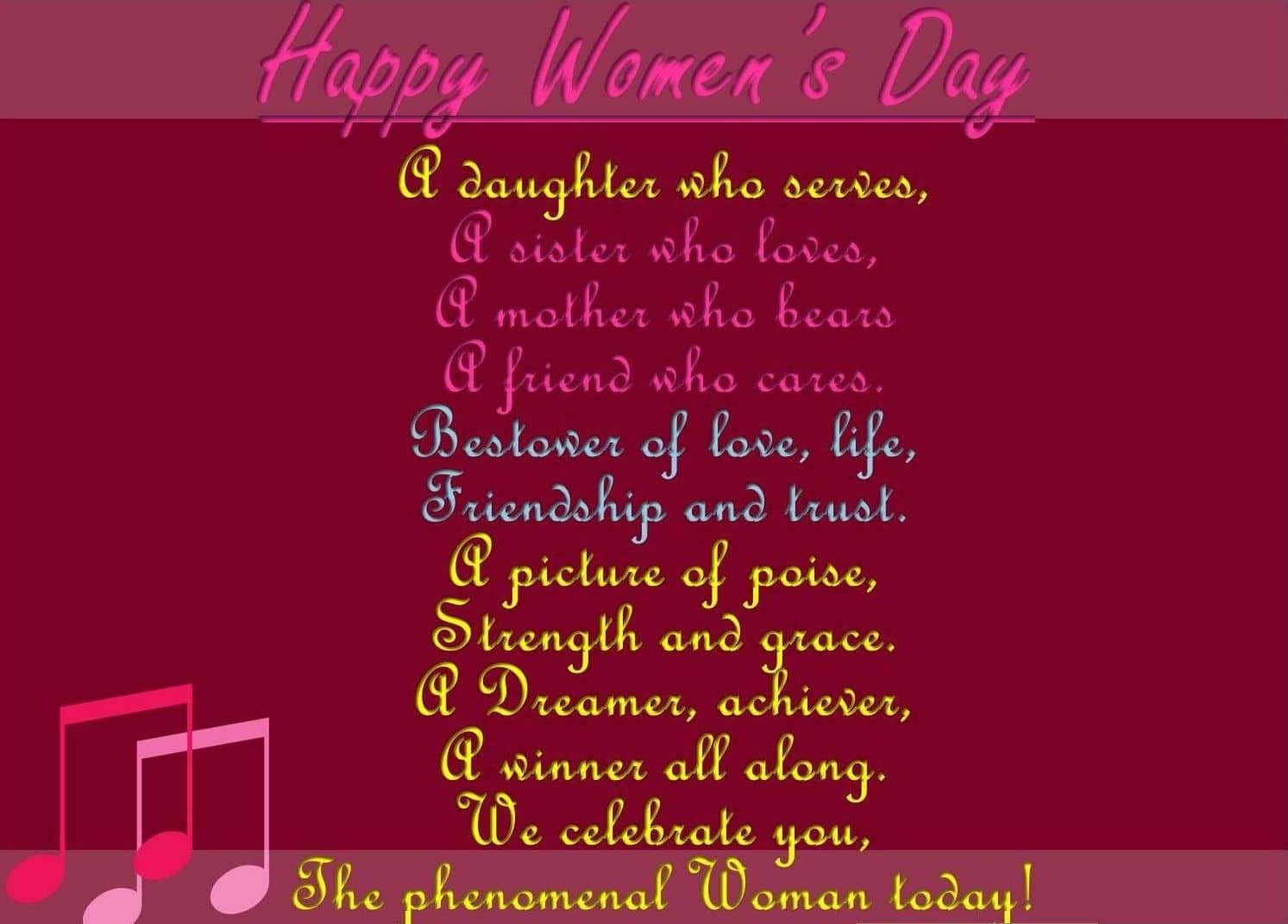 Happy Women's Day saying and lines for Her