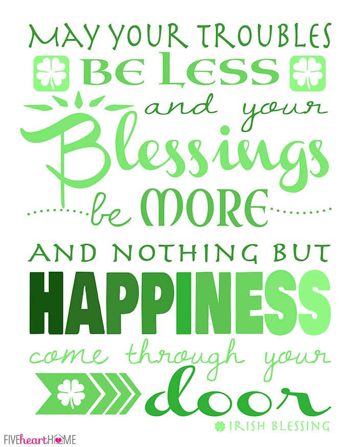 Blessings on Happy St. Patrick's Day