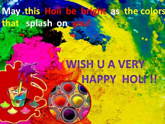 Happy Holi Wishes in India