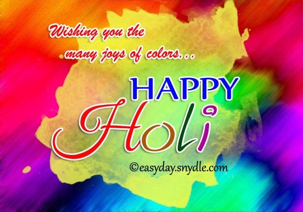 Happy Holi festival Wishes