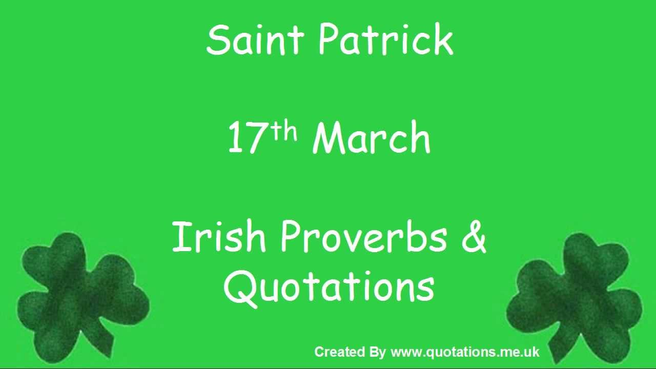 St Patrick's Day 2017 Quotes Proverbs