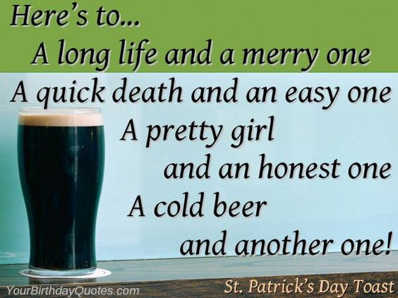 St Patrick's Day 2017 Toasts