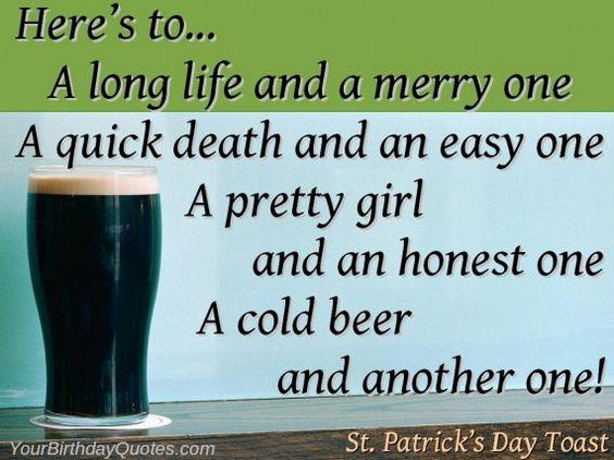 St Patrick's Day 2017 Toasts