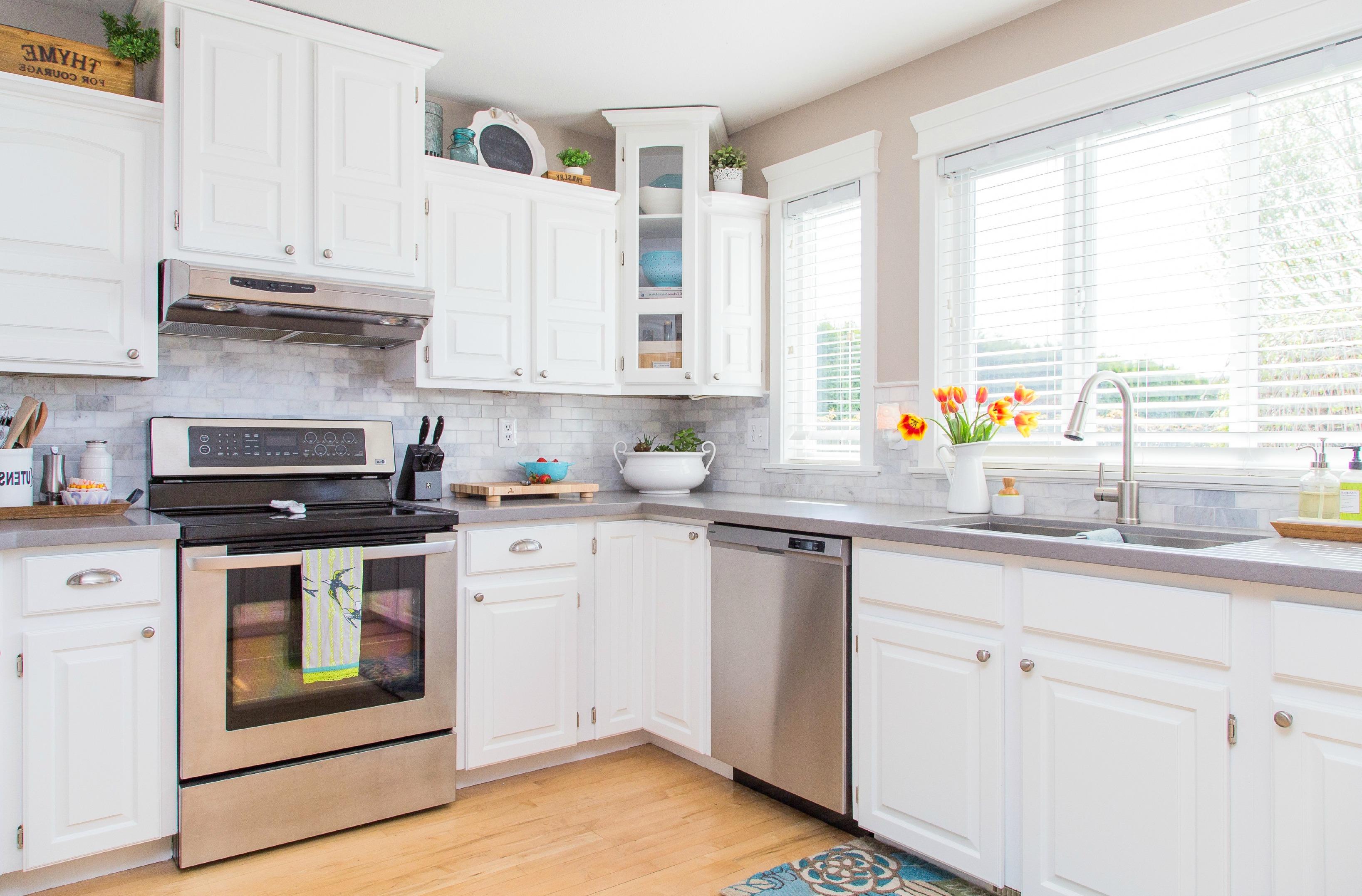 white kitchen cabinet pure
