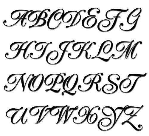 Alphabet Font Design