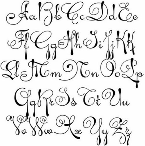 Alphabet Font Image