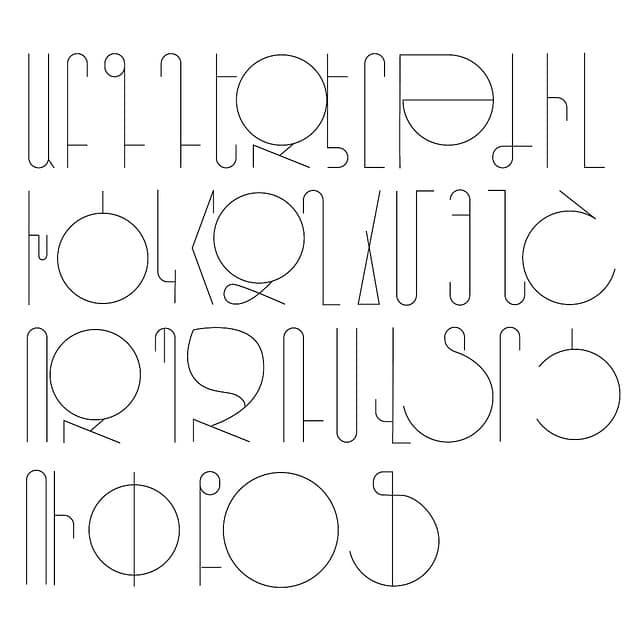 Armenian Font Pattern