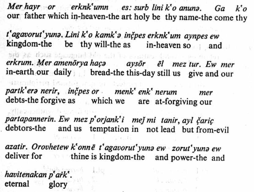 Armenian Font Picture