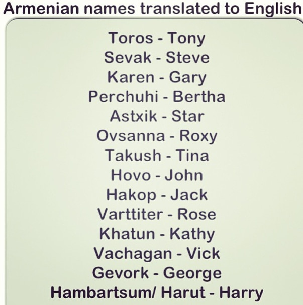 Armenian Name Idea