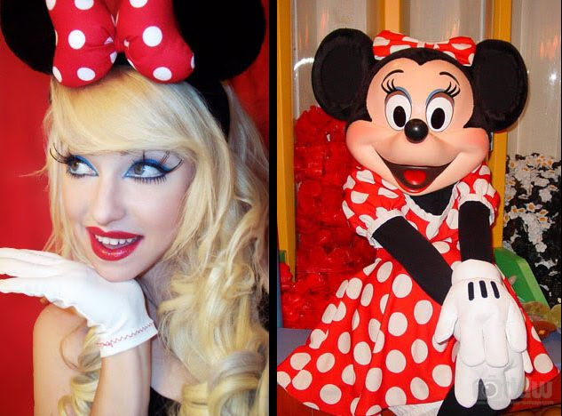 Attractive Minnie Mouse Makeup Image