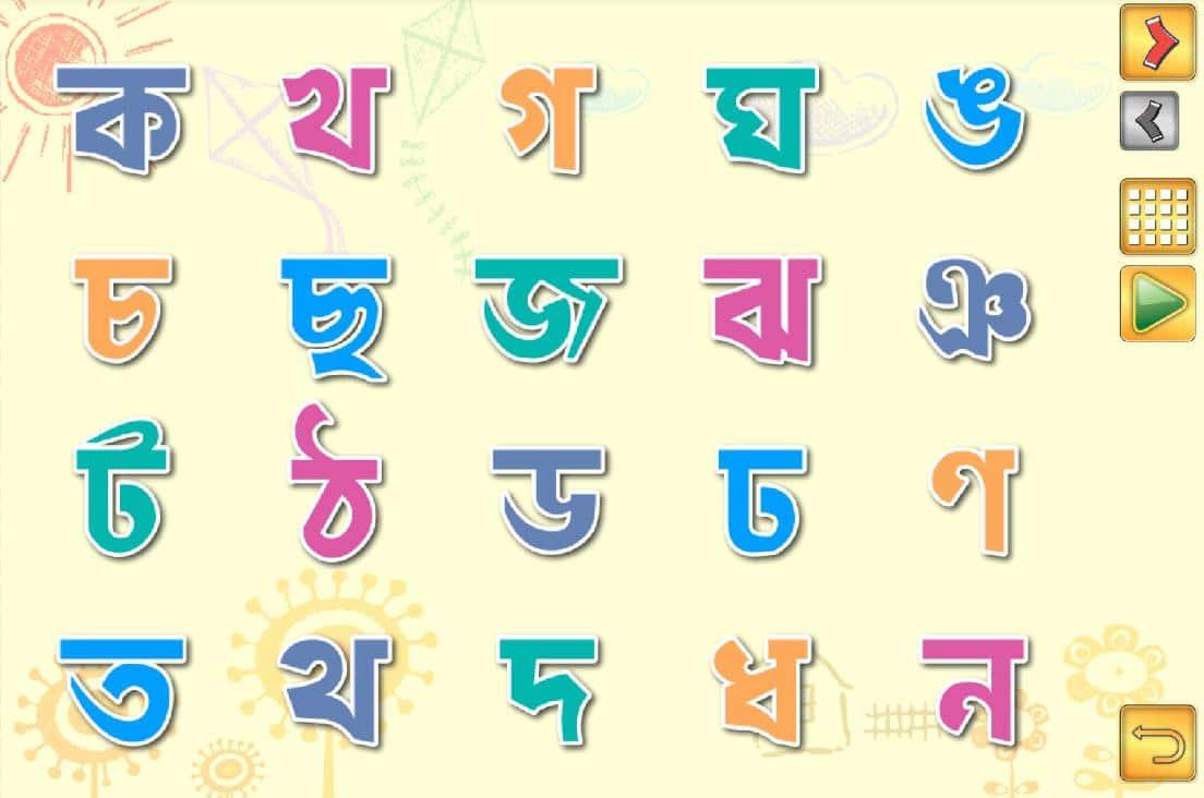 Bangla Alphabet Concept