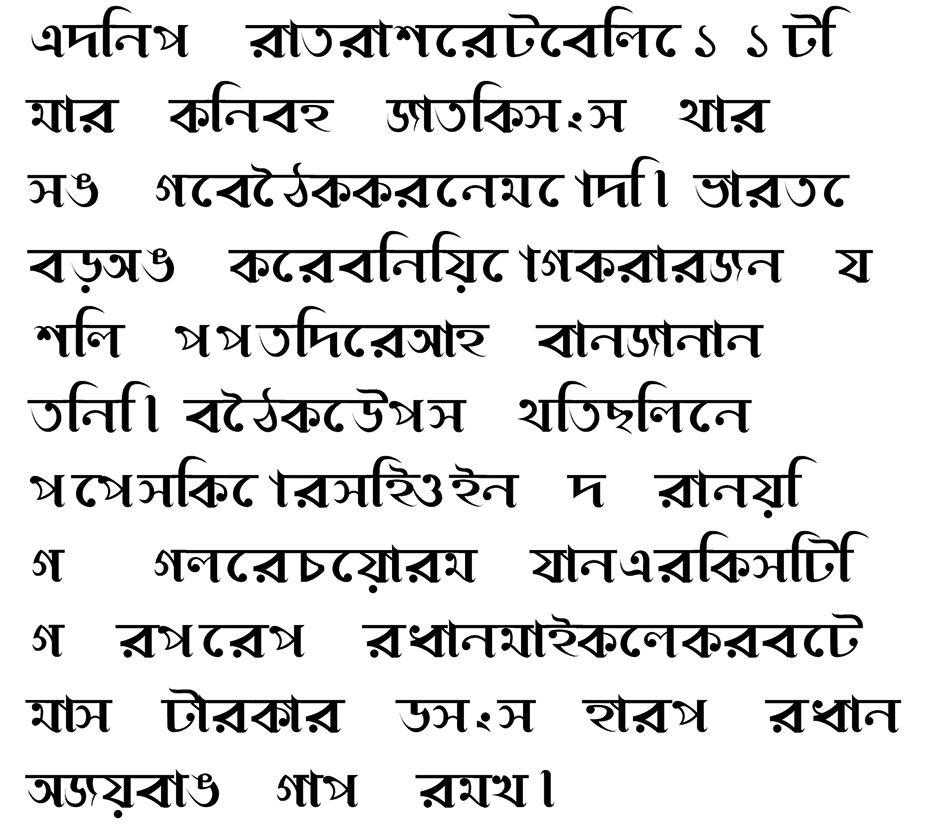 Bengali Font Pattern