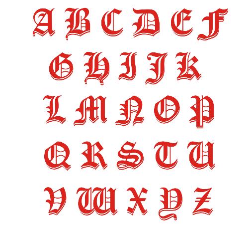 Calligraphy Alphabet Font
