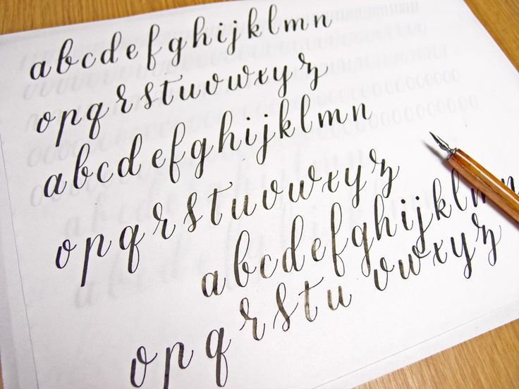 Calligraphy Alphabet Page