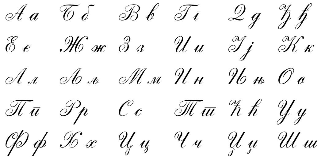 Cyrillic Alphabet Page