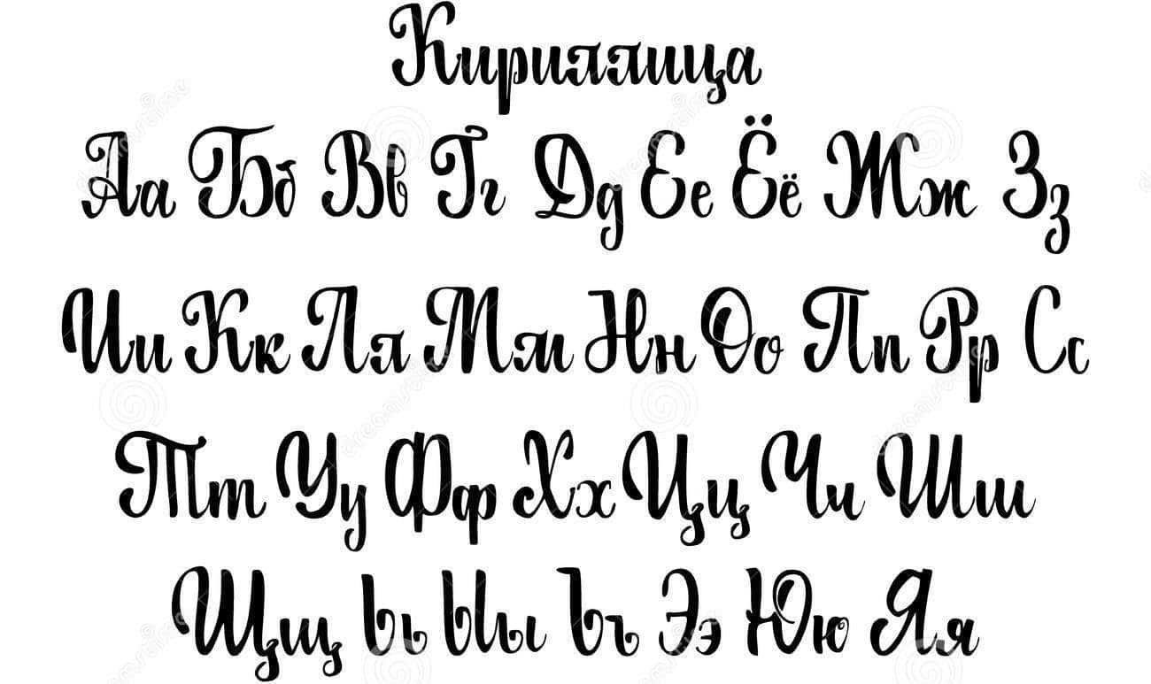 Cyrillic Letters Chart