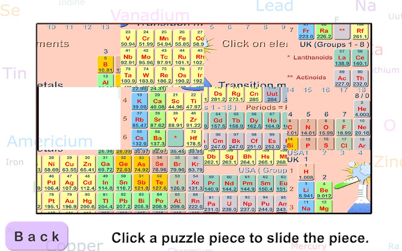 Download Periodic Table Puzzle Idea
