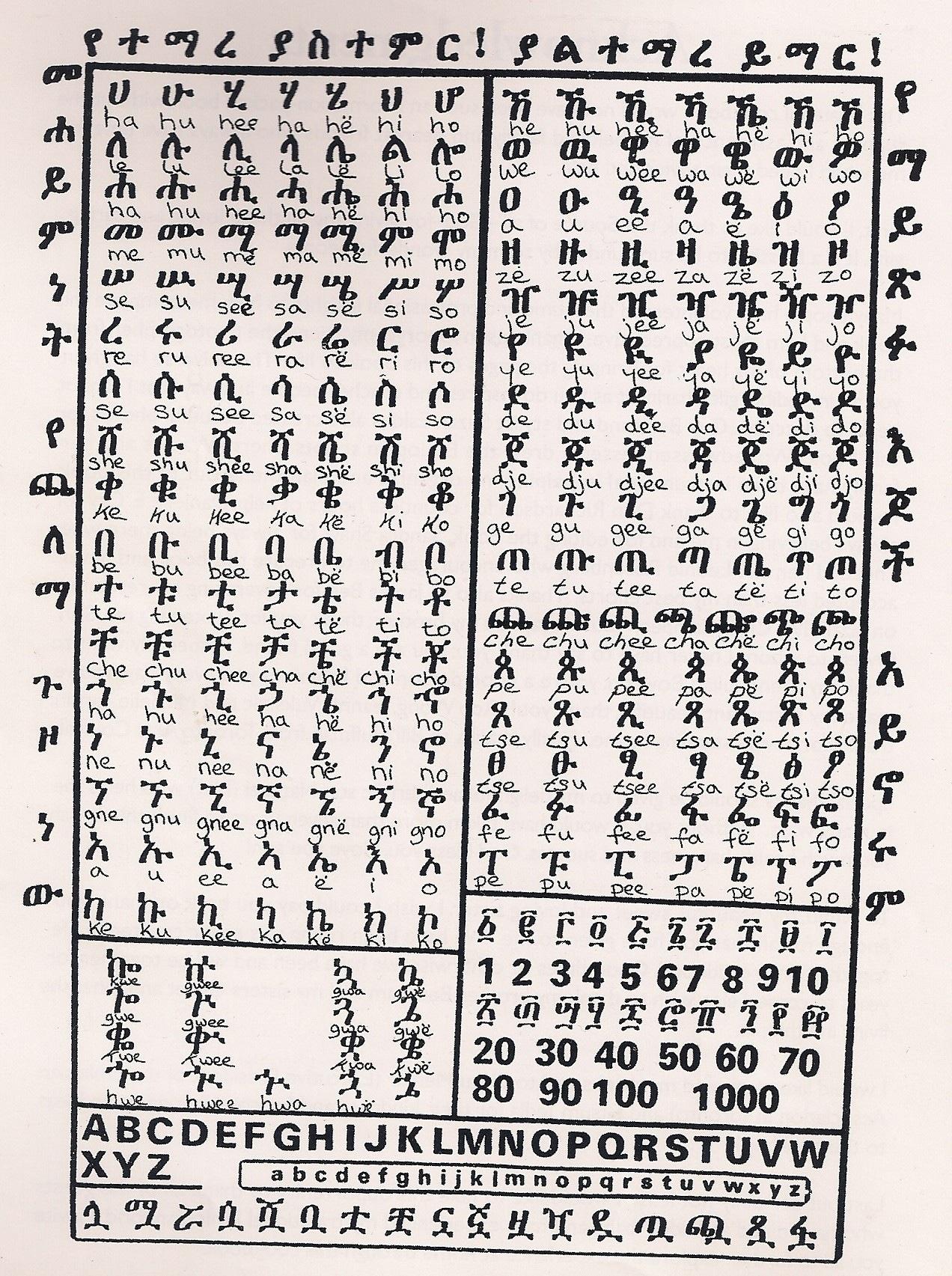 Ethiopian Language Amharic Text