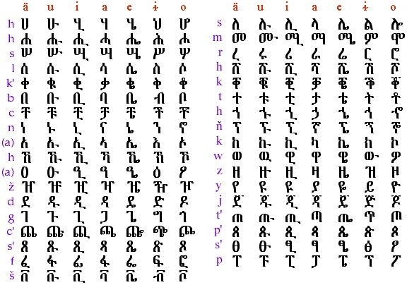 Ethiopian Language Amharic Words