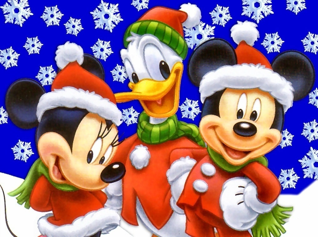 Free Mickey Mouse Christmas Wallpaper