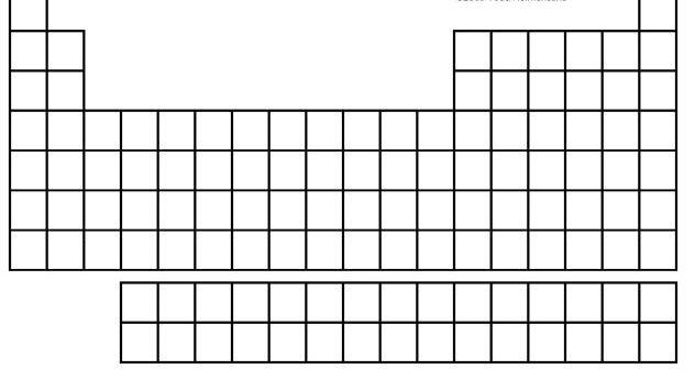 Free Periodic Table Worksheet Image