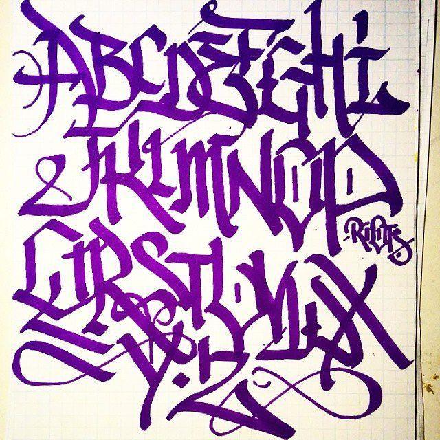 Graffiti Letters Chart