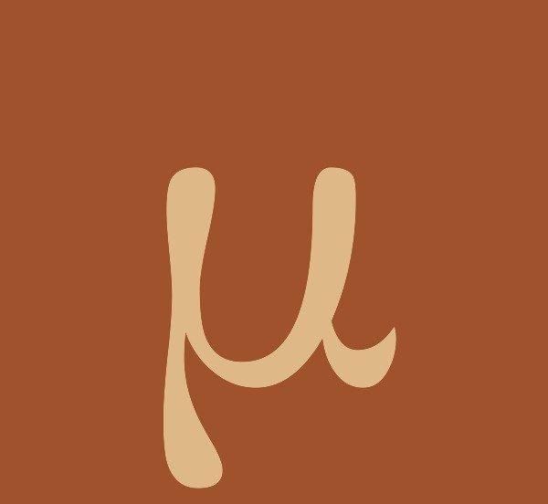 Greek Letter m HD Image