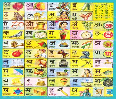 Hindi Aksharmala Chart Image
