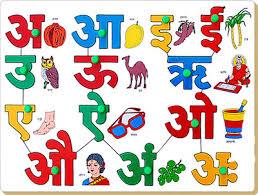 Hindi Vowels Chart