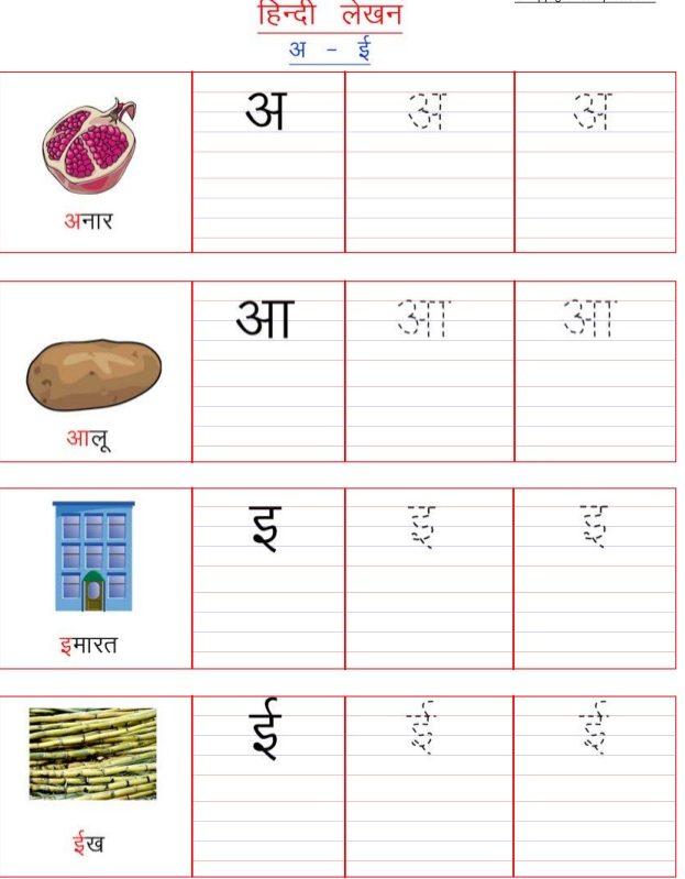 Hindi Vowels HD Image