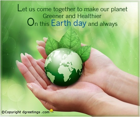 Images of Earth Day Message