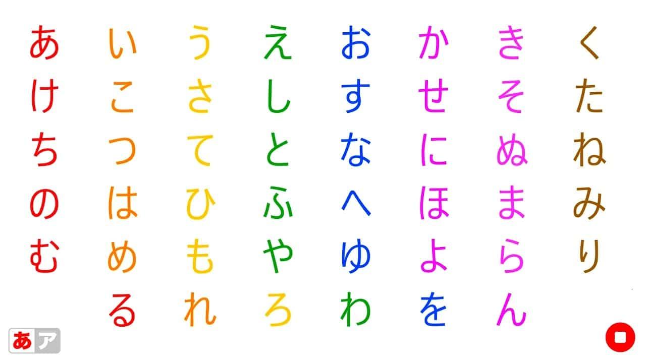 Japan Alphabet Letters