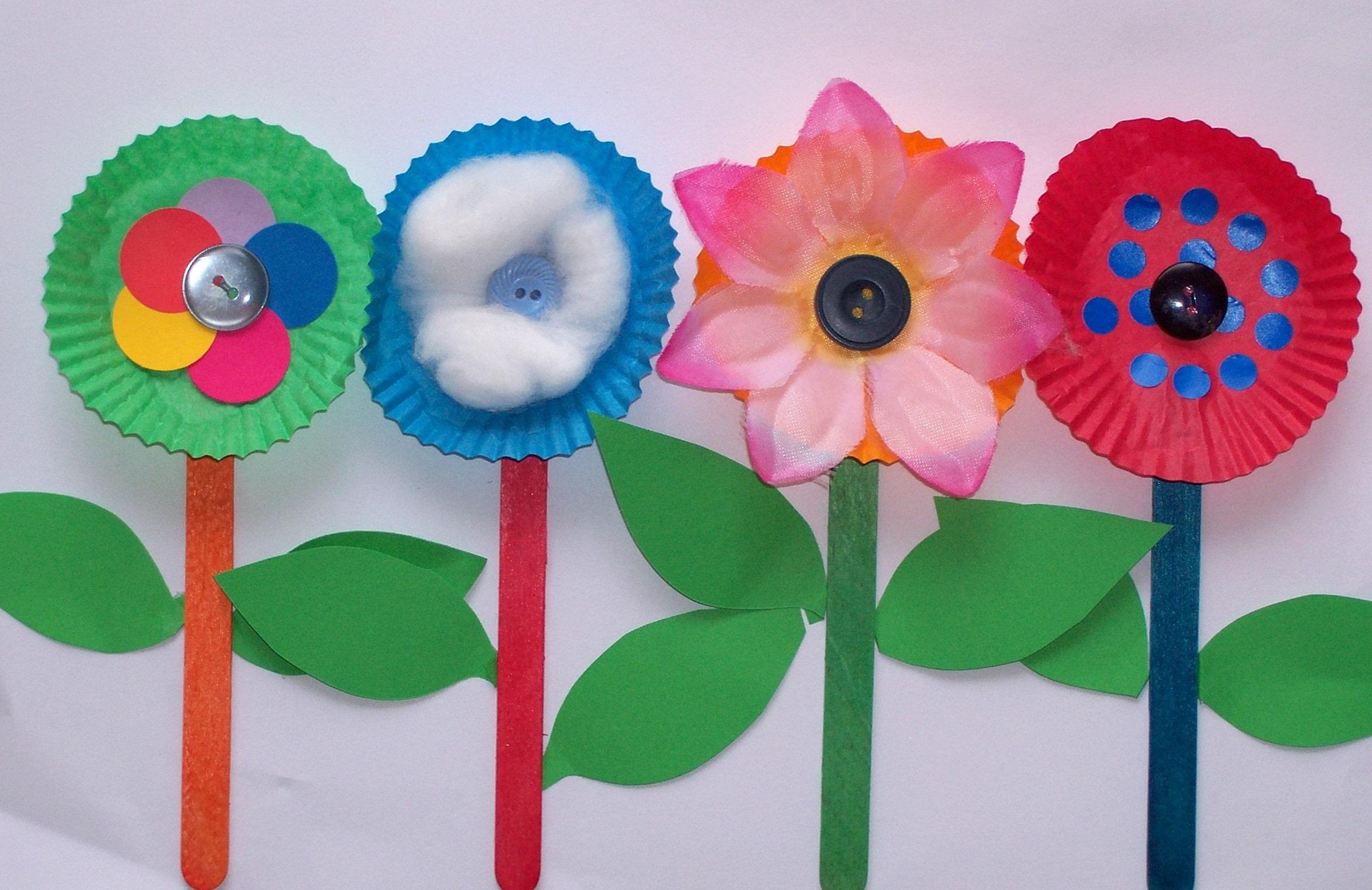Kids Easy Craft Flowering Idea