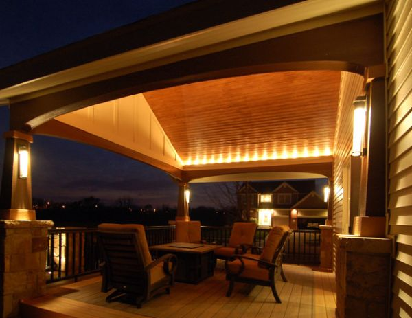 Lighting Patio Floor Idea