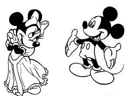 Mickey Mouse Coloring Page Design