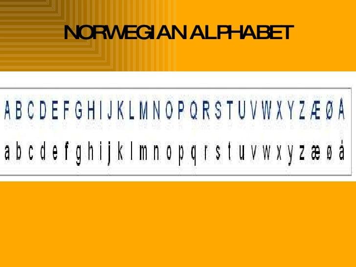 Norwegian Alphabet Poster