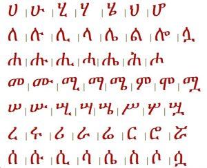 Online Amharic Fidel Image