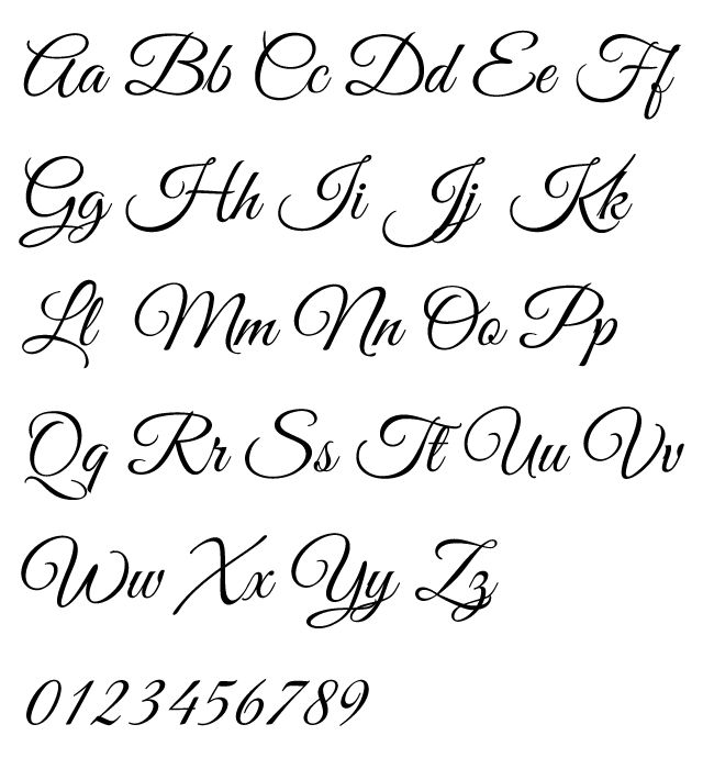 Online calligraphy alphabet free hd images