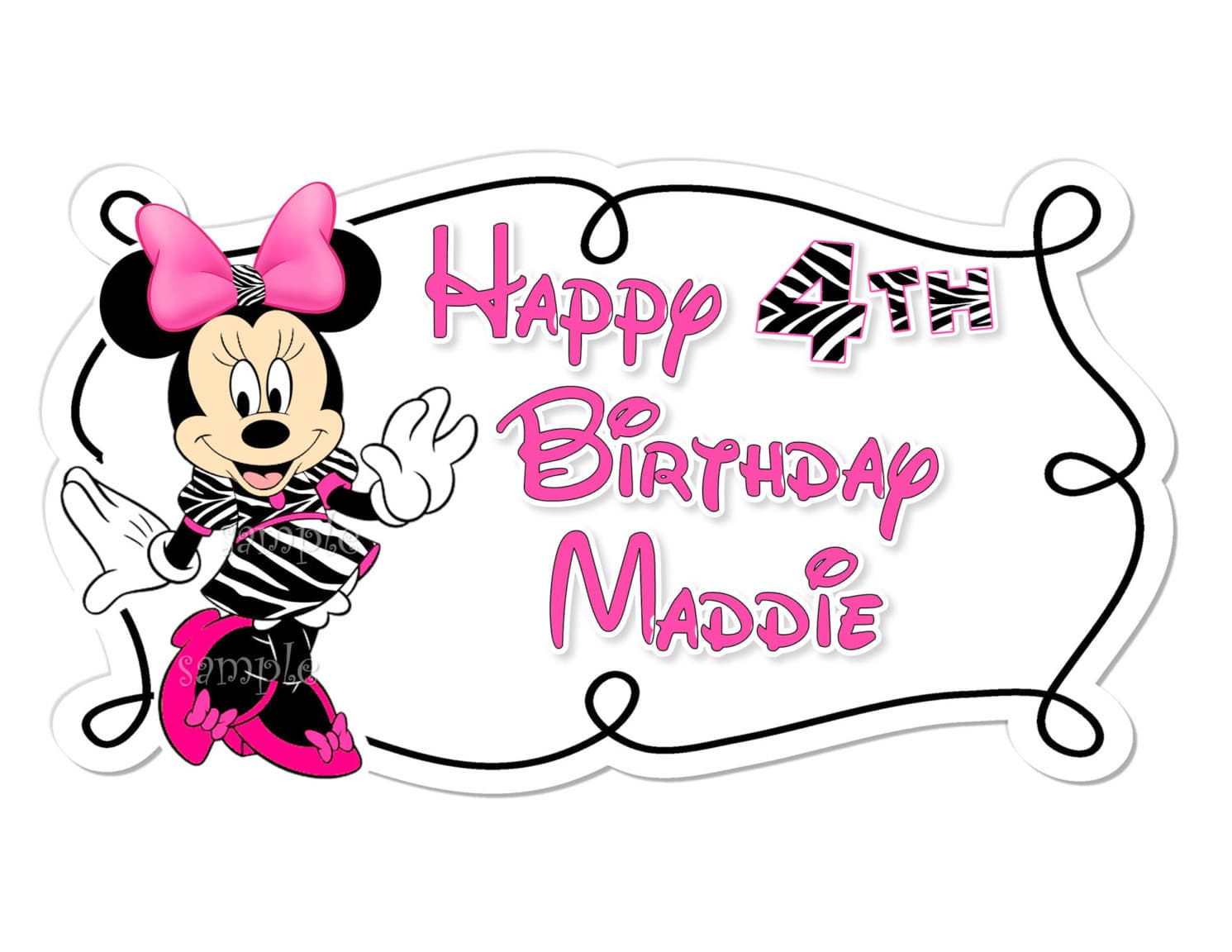 Pink Minnie Mouse Image