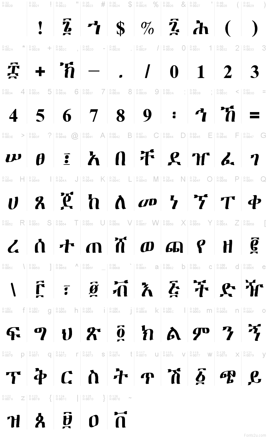 Print Amharic Text Page
