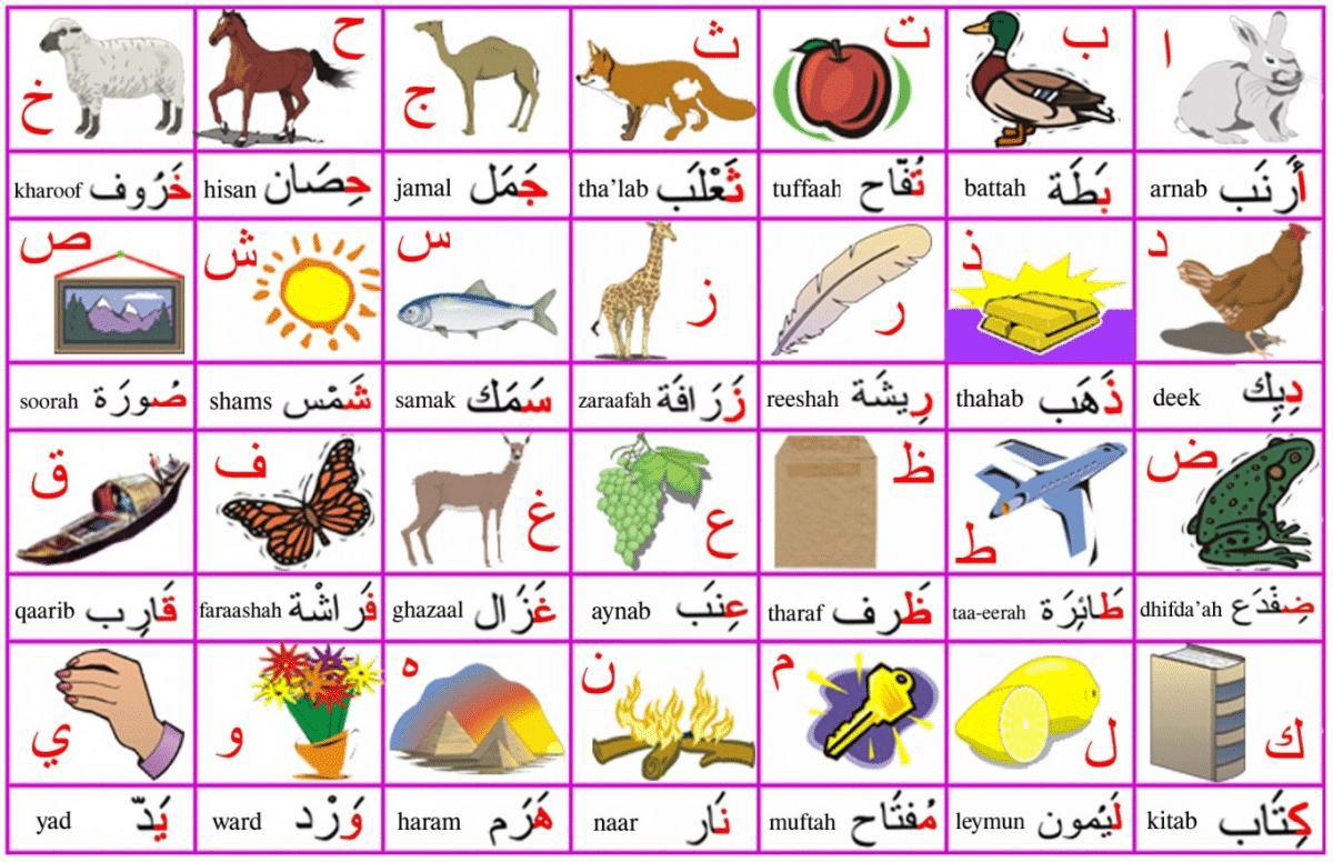 Print Kids Arabic Alphabet