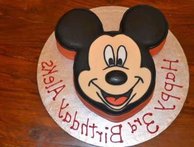 Print Mickey Mouse Face Image