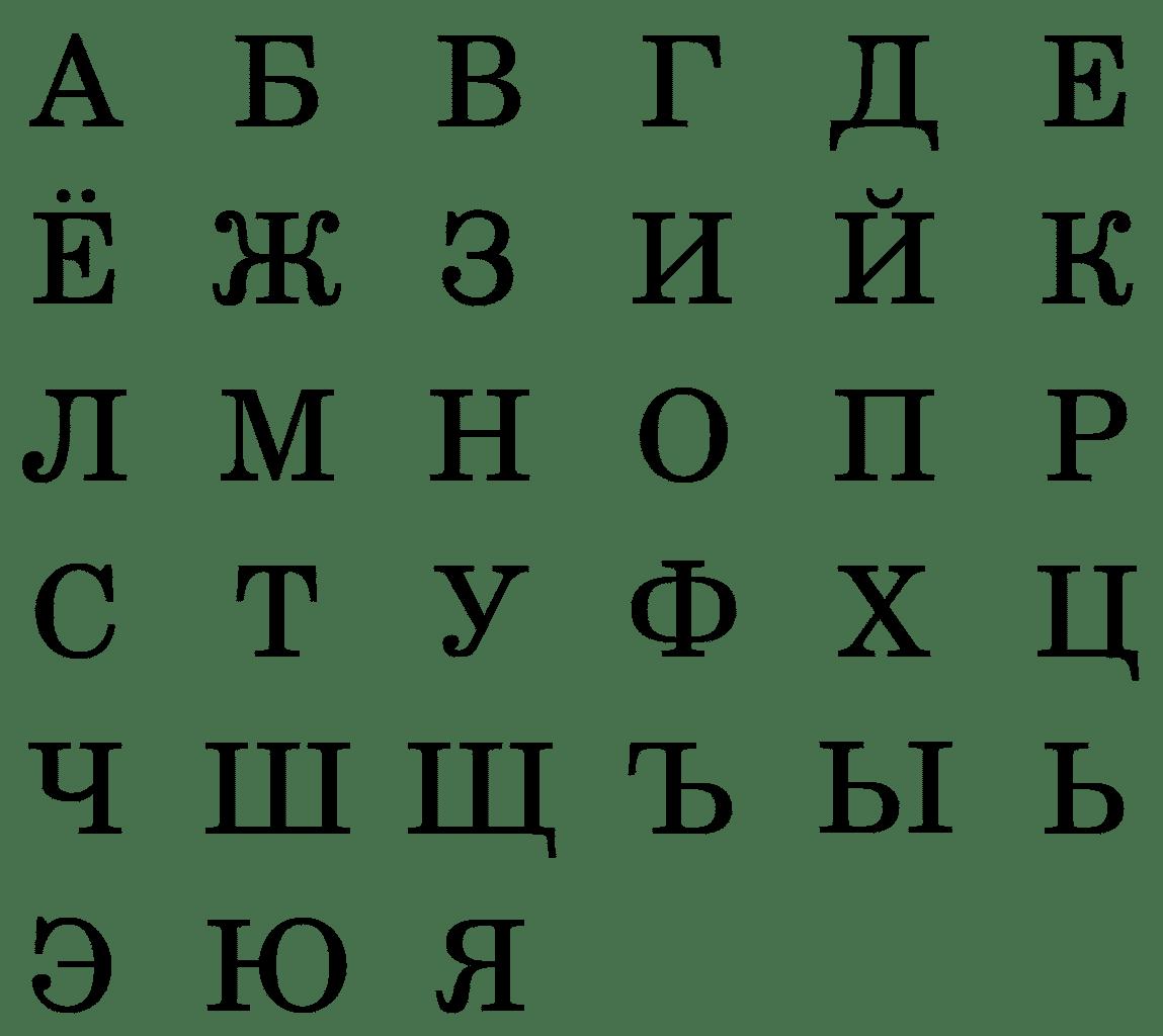 Russian Alphabet Letters
