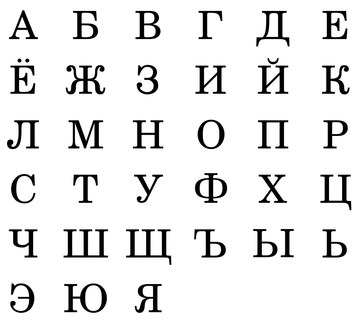 Russian Letters Pattern