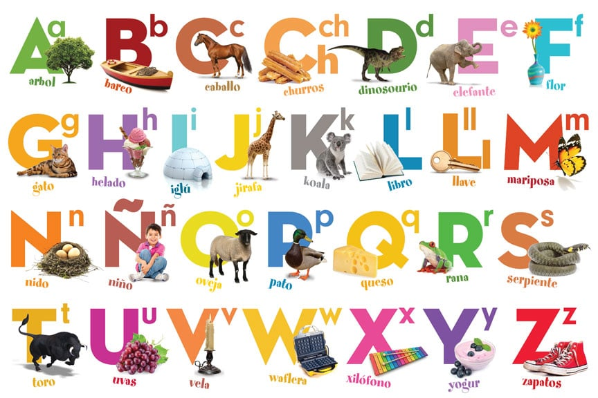 The Spanish Alphabet Font