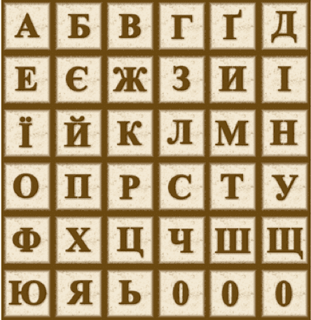 Ukrainian Alphabet Font
