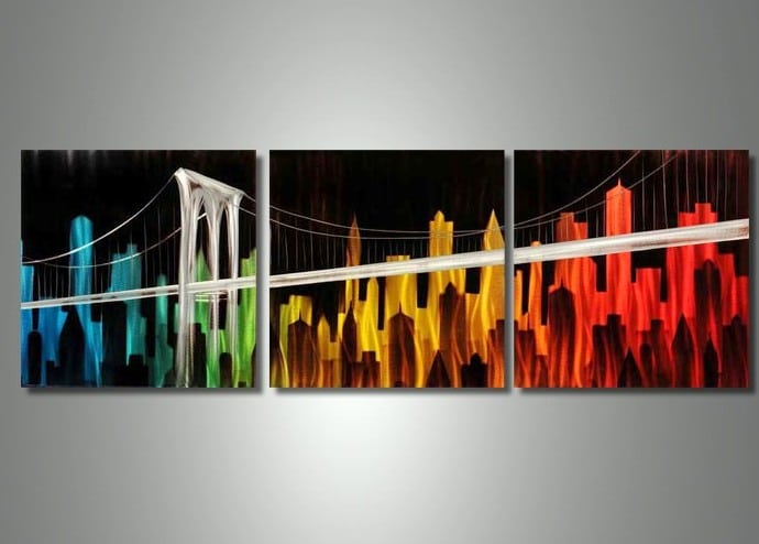 Free Large Metal Wall Art Picture