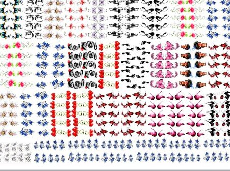 Nail art stikers picture